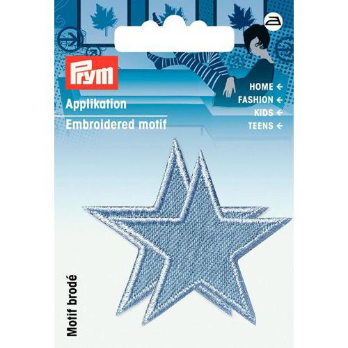 923157 Термоаппликация Звезды джинс.син.свет.2шт. Prym