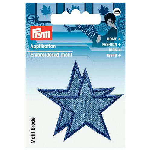 923158 Термоаппликация Звезды джинс.син.сред.2шт. Prym