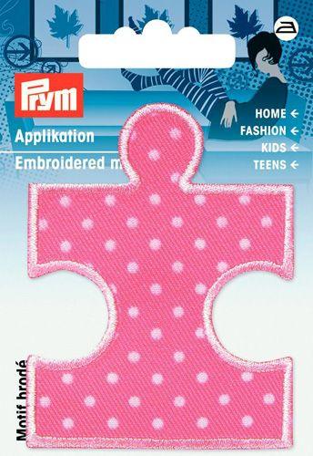 923161 Термоаппликация Пазл розовый/белый цв. 1шт. Prym