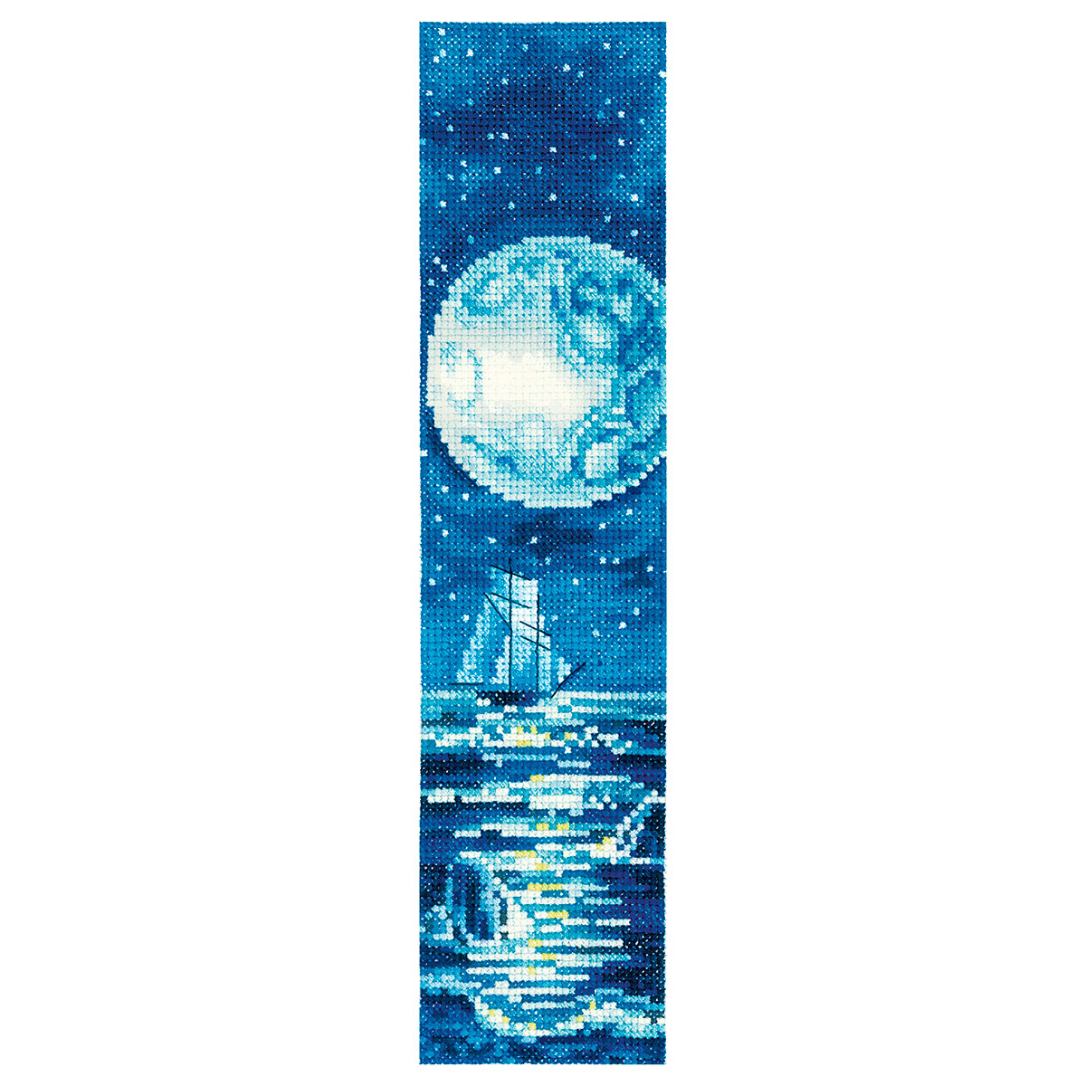 З-56 Набор для вышивания 'Закладки. Голубая луна'5,5 х 22см
