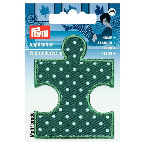 923163 Термоаппликация Пазл зеленый/белый цв. 1шт. Prym