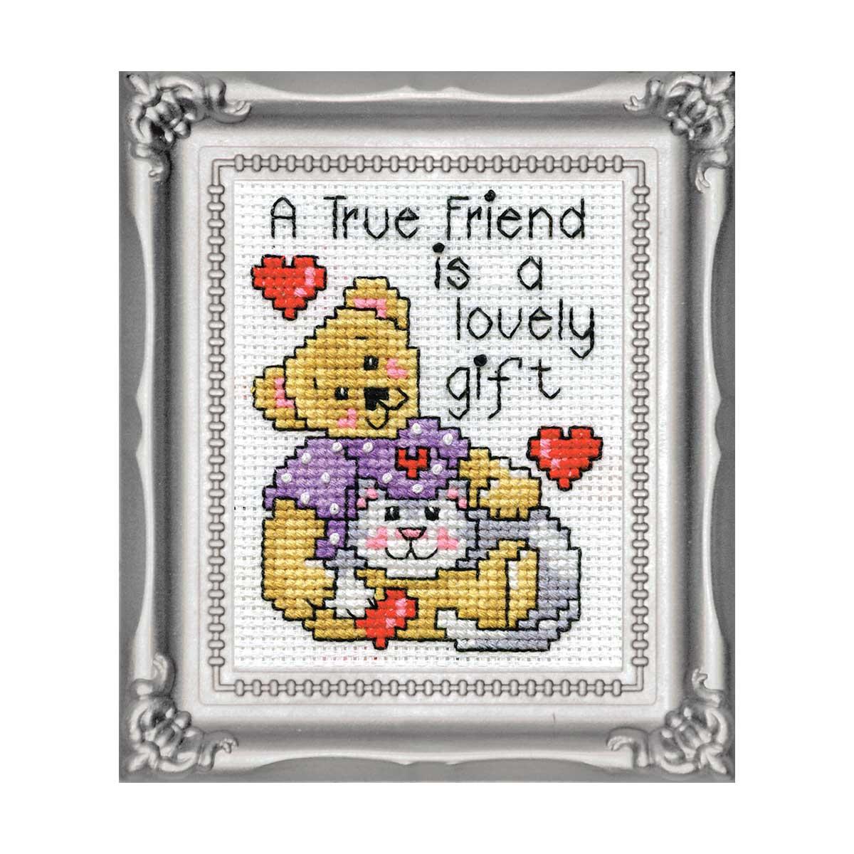 601 DWC Набор для вышивания 'Настоящие друзья' 5х8 см