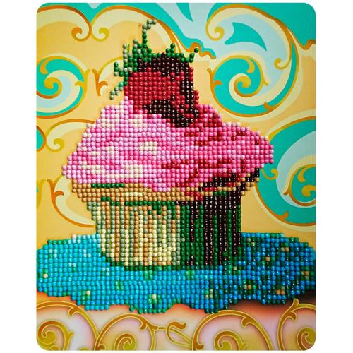 M010 Алмазная картина Колор Кит 'Красивый десерт'17*21см