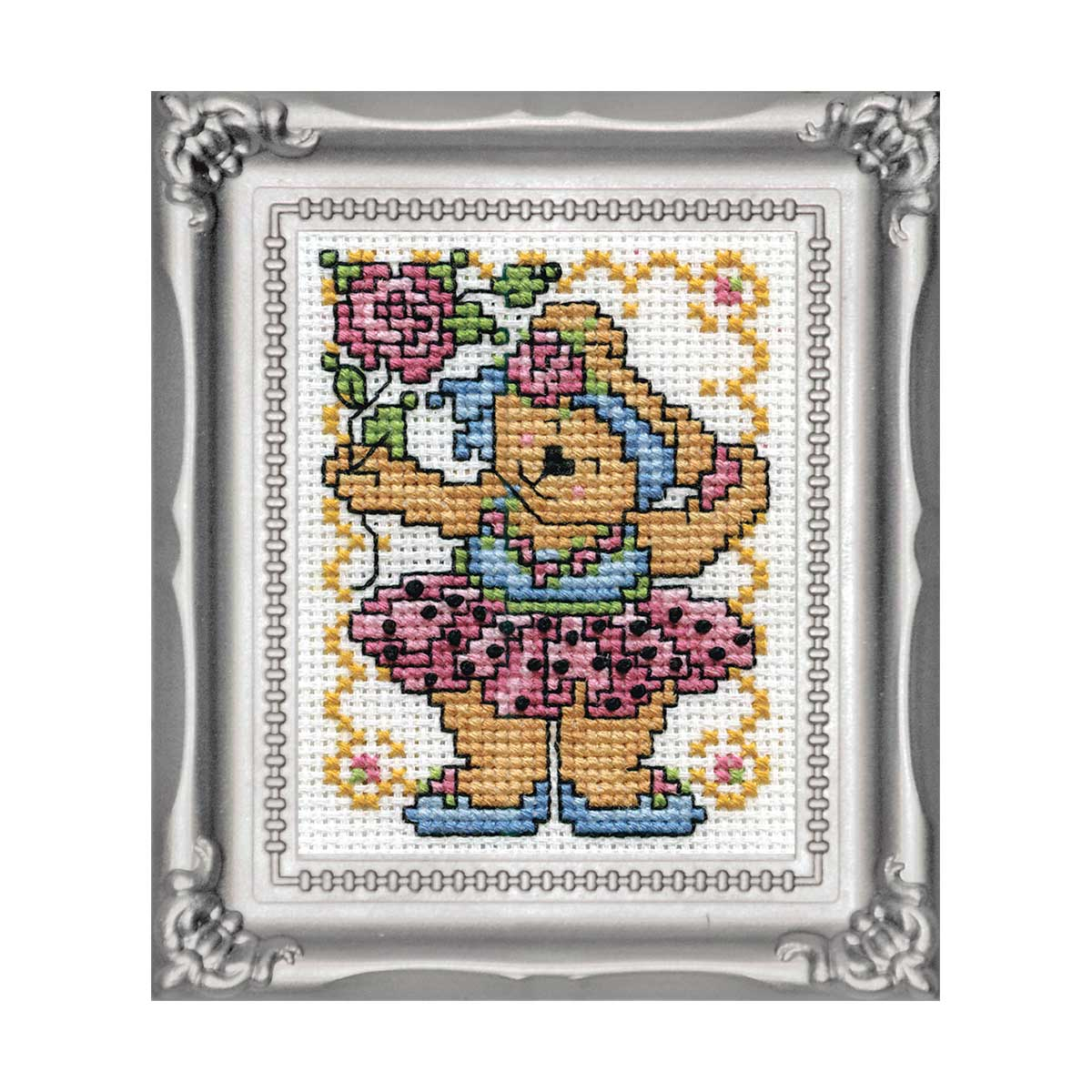 602 DWC Набор для вышивания 'Мишка-балерина' 5х8 см