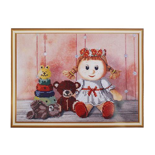 БН-3123 Набор для вышивания бисером Hobby&Pro 'Игрушки для Алисы', 33*30 см