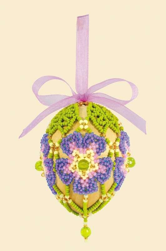 Б176 Набор для бисероплетения Riolis 'Яйцо пасхальное', 6,5*5 см