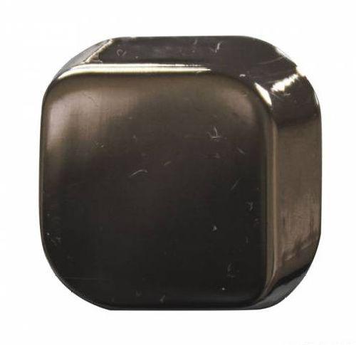 69631 Кнопка 5/22x22 3D черный никель (ответная часть заказывается отдельно)