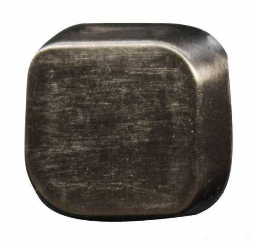 69633 Кнопка 5/22x22 темное серебро 3D (ответная часть заказывается отдельно)