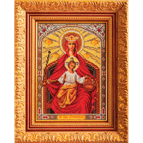 В199 Набор для вышивания бисером Кроше 'Богородица Державная'19*27см