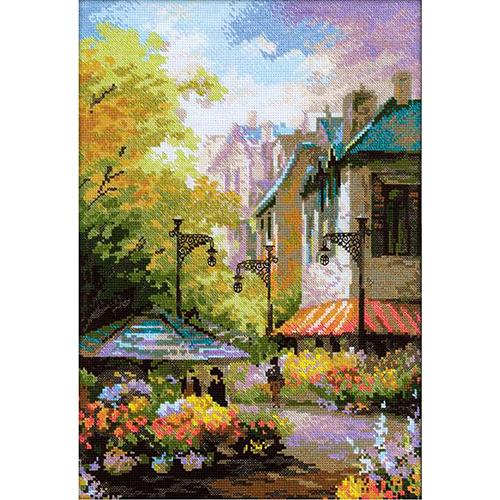 1306 Набор для вышивания Riolis 'Цветочная улица', 26*38 см