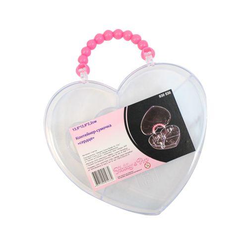 930530 Контейнер-сумочка 'сердце' ,13.6*12.6*2.2см Hobby&Pro