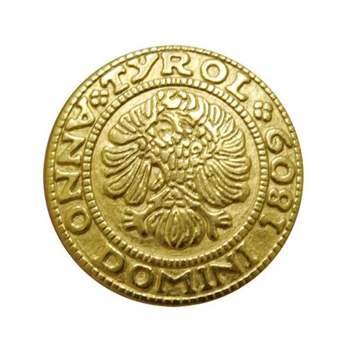 64394 Пуговица на ножке 15мм. золот. 'герб'