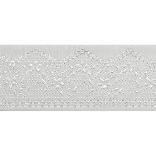 35710 Тесьма отделочная 35мм*10м, бел/серебро