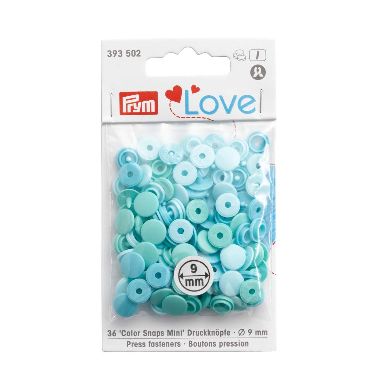 393502 Kнопки Color Snaps Mini PrymLove, мятный цв., 36шт Prym