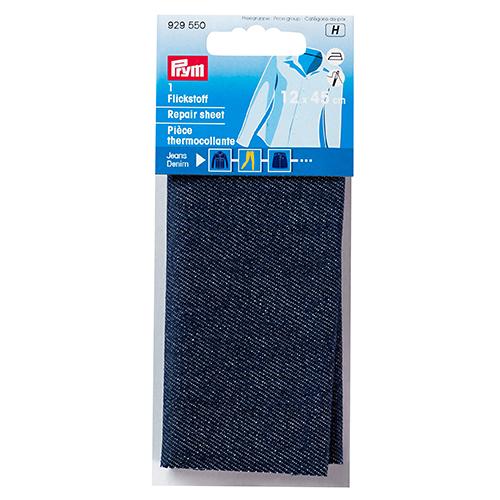 929550 Ткань джинсовая термоклеевая для заплаток 12*45см темно-синий цв. Prym
