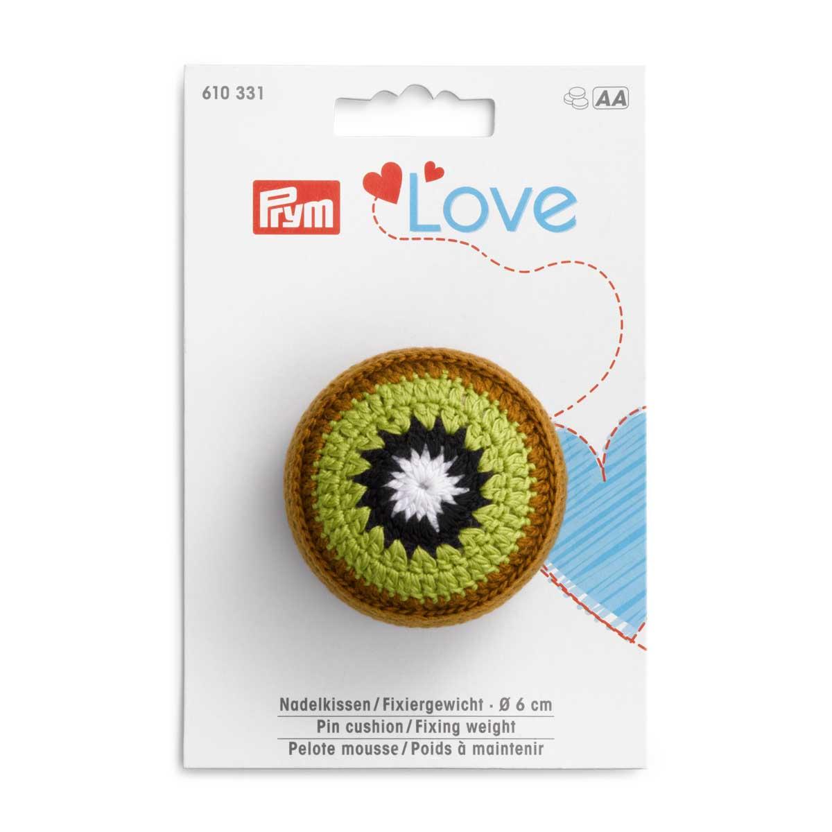 610331 Игольница киви Prym Love с фиксирующей гирей, Prym