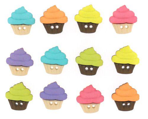 6927, Пуговицы-фигурки. Разноцветные кексы Dress It