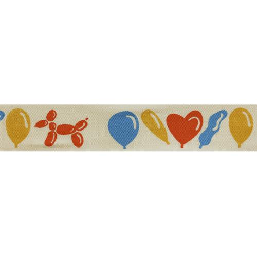 CP557 Лента декоративная 'Воздушные шары' 100% хб, 20мм*25м