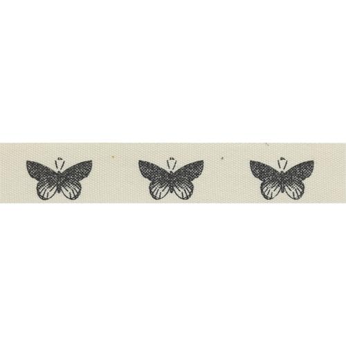 CP1135 Лента декоративная 'Бабочки' 100% хб, 15мм*25м