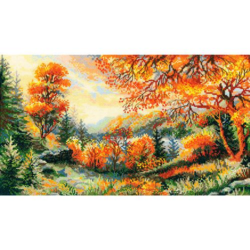 1314 Набор для вышивания Riolis 'Багряная осень', 41*23 см