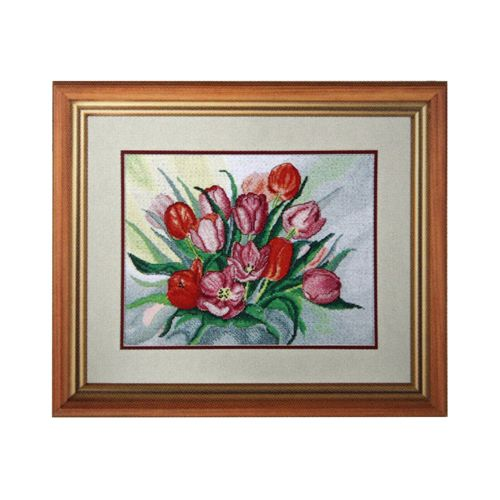 795 Набор для вышивания Hobby&Pro 'Тюльпаны', 32*25 см