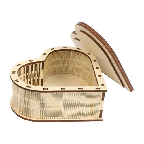 L-265 Деревянная заготовка шкатулка 'Сердечко', 13*13*6 см, 'Астра'