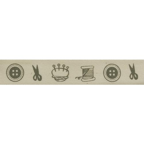 CP1004 Лента декоративная 'Ателье' 100% хб, 15мм*25м