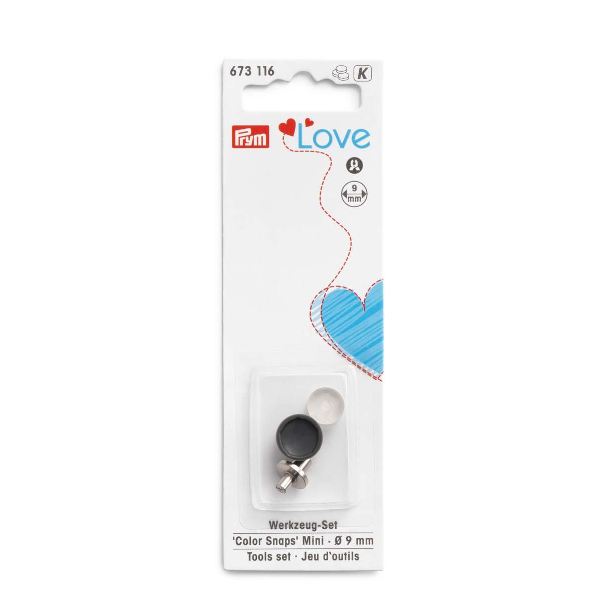 673116 Набор инструментов для установки кнопок Color Snaps Mini PrymLove, 1шт Prym