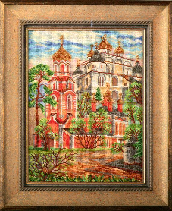 В404 Набор для вышивания бисером 'Кроше' 'Сретенская церковь', 18,5x26 см