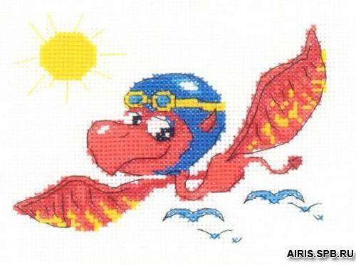 НВ-118 Набор для вышивания Riolis 'Дракон-пилот', 16*13 см