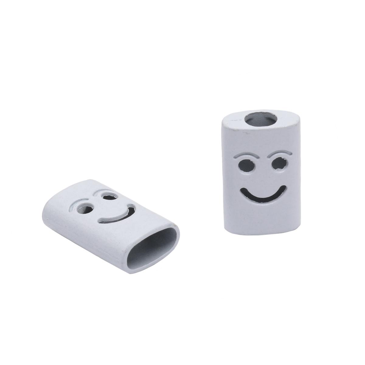 3AR435 Наконечник 'Smile' 17мм, металл, цвет белый