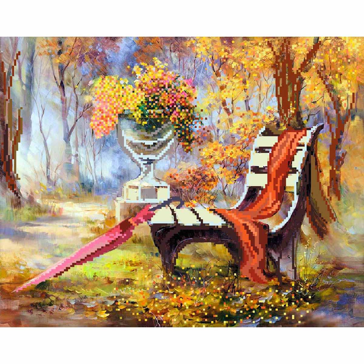 4210 Рисунок на шелке Матренин посад 'Недописанный роман' 28*35см (37*49см)