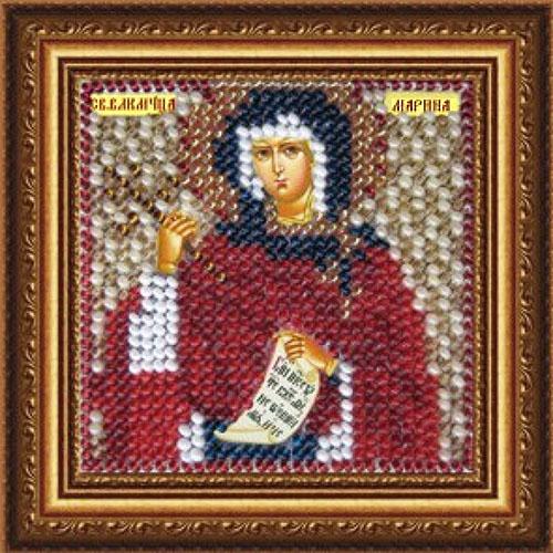 041ПМИ Набор для вышивания бисером 'Вышивальная мозаика' Икона 'Св.Великомученица Марина Антиохийская', 6,5*6,5 см