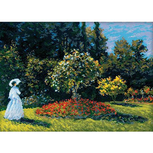 1225 Набор для вышивания Riolis по мотивам картины К.Моне 'Дама в саду', 40*30 см