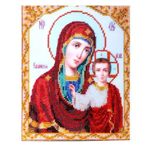 БН-4008 Набор для вышивания бисером Hobby&Pro 'Икона Пресвятой Богородицы Казанская' 19*23см