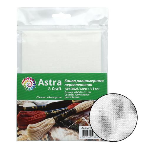 784 (802) ткань для вышивания равномерка белая, 100% хлопок 30ct