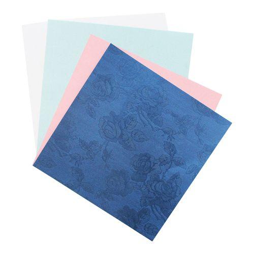 Текстурированная бумага 'Роза', 120 гр., 20*20 см, 'Астра'