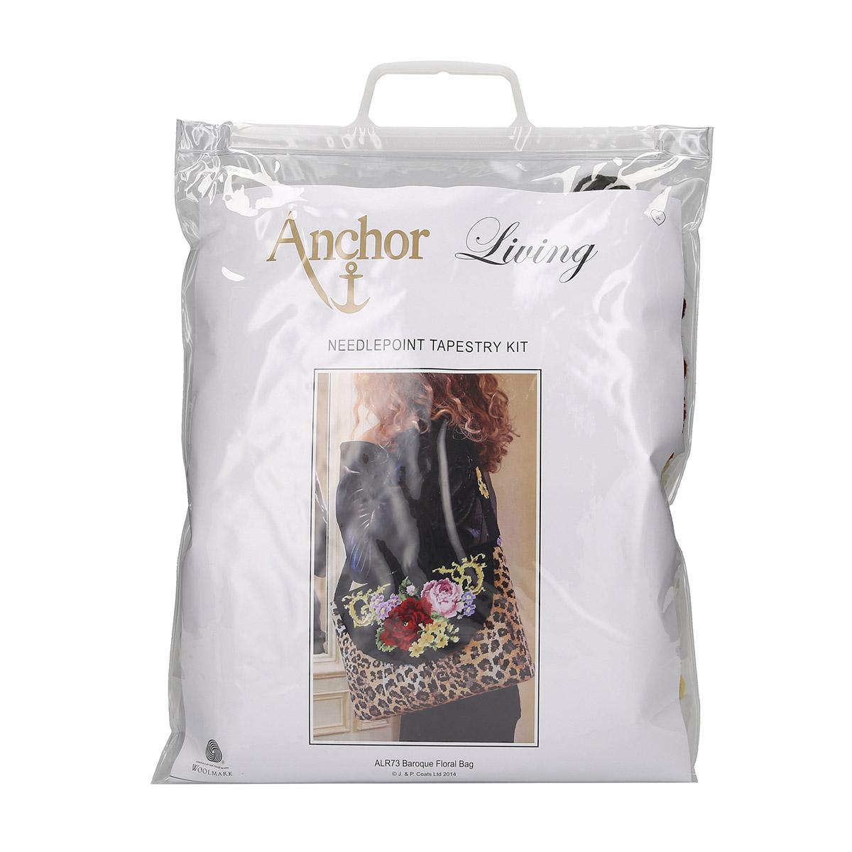 ALR73 ANCHOR Набор для вышивания сумка 'Цветочный мотив в стиле барокко' 25х31,5 см