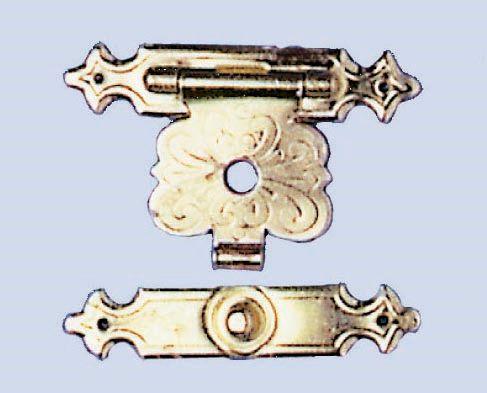 61834705 Замок для шкатулки (метал) 20x33мм, 2 шт Цветок Glorex