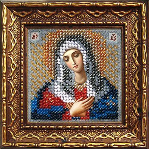 068ПМИ Набор для вышивания бисером 'Вышивальная мозаика' Икона 'Богородица Умиление', 6,5*6,5 см