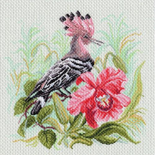 1727 Канва с рисунком Матренин посад 'Райская птица' 41*41см