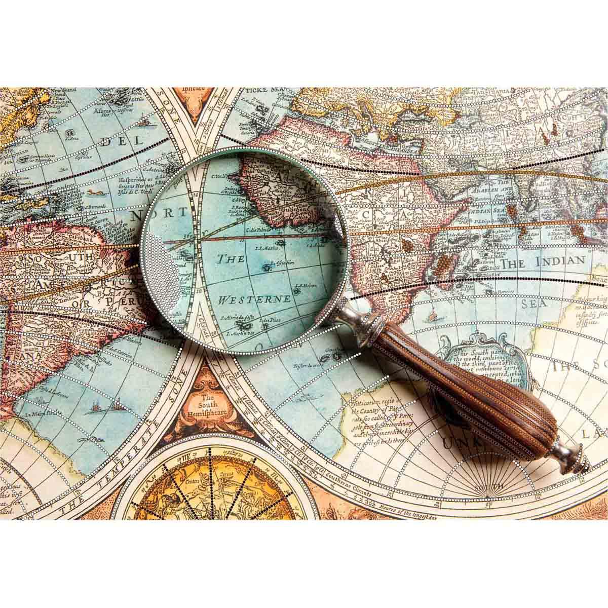 4225 Рисунок на шелке Матренин посад 'Открытие мира' 31,5х44,5см (37*49см)