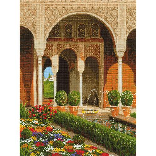 1579 Набор для вышивания Riolis 'Двор ручья. Дворец Хенералифе', 30*40 см