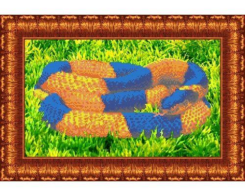 КБЖ-3005 Канва с рисунком для бисера 'Змея', А3