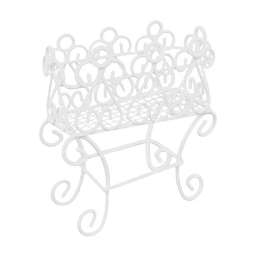 KB2224 Металлическая подставка для цветов, белая 8*3,5*9см Астра