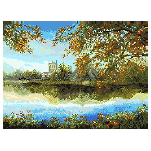 1834/Н Набор для вышивания Матренин Посад 'Осенний пруд' 37*49см
