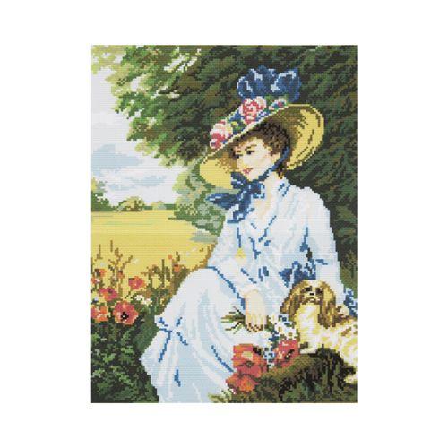 АА-001 Набор для вышивания 'Дама с собачкой' 30*40см