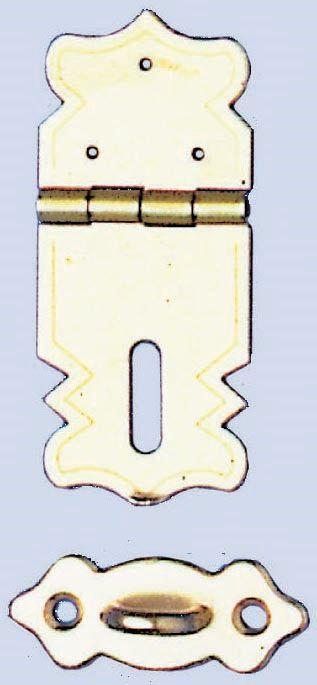 61833403 Замок (метал) с орнаментом с кольцом 47x20мм, 2 шт Glorex