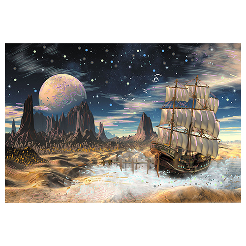 152/Б Набор для вышивания бисером Матренин посад 'Обратная сторона Луны' 37*49см