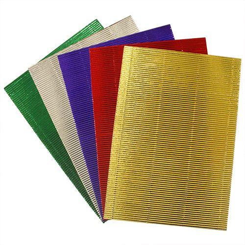 Бумага гофрированная 'Металлик', 250 гр, упак./5 листов